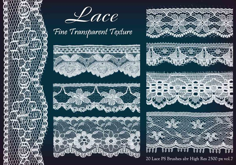 20 Lace PS Brushes abr  vol 7 Photoshop brush