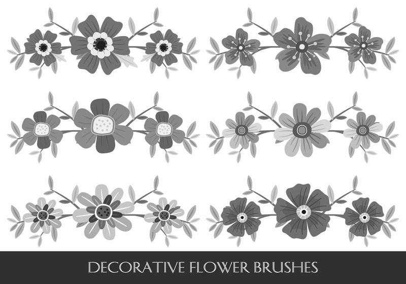Decorative Flower Brushes Photoshop brush