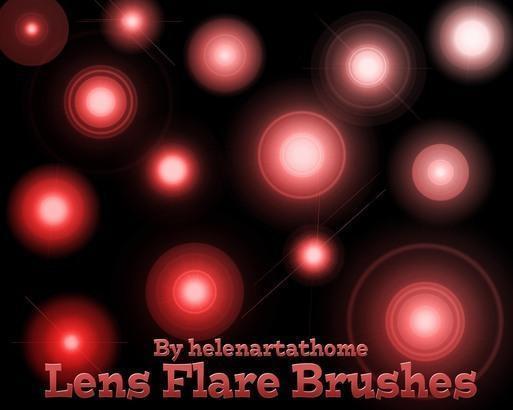Lens Fare Brushes Photoshop brush