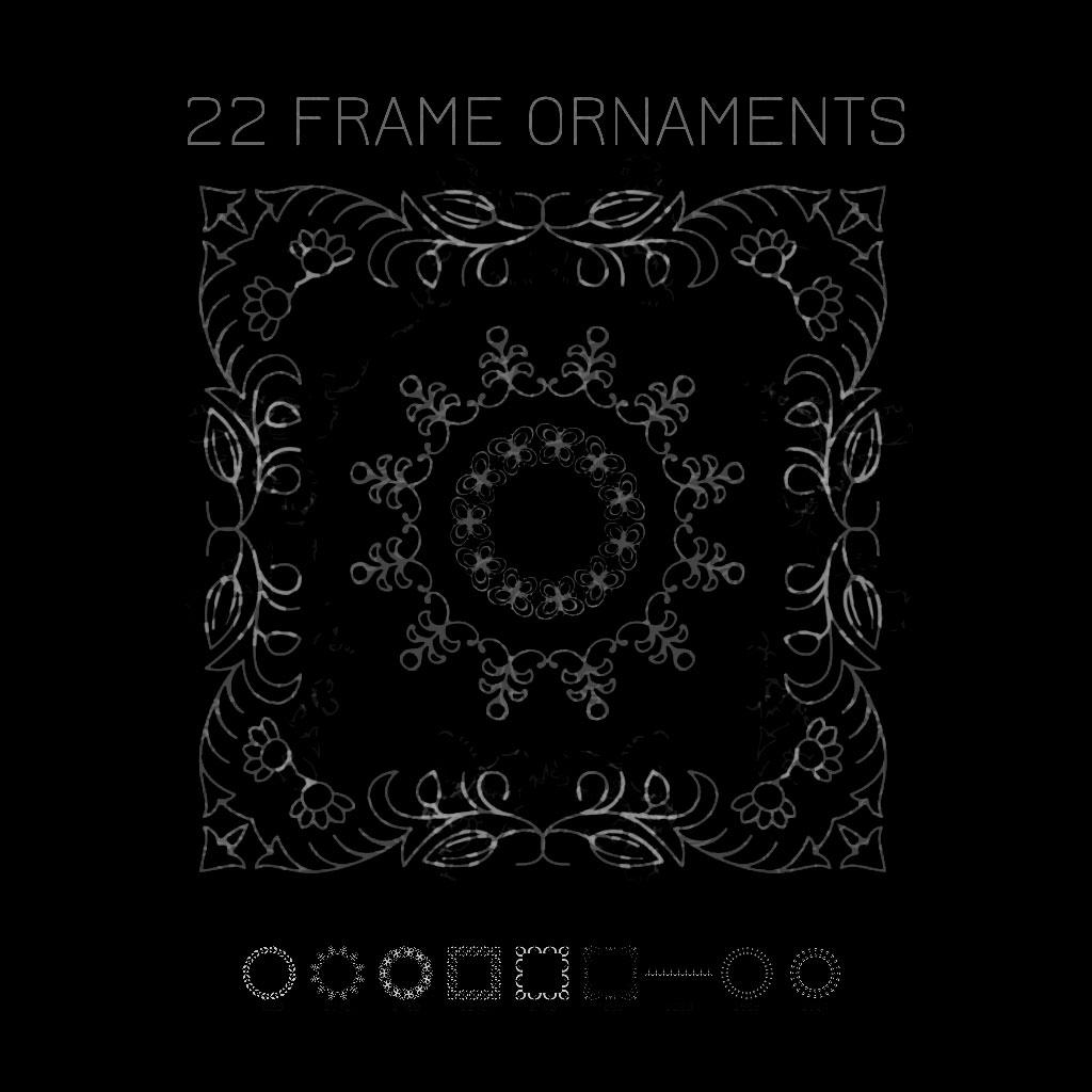 9 Frame Ornaments Photoshop brush
