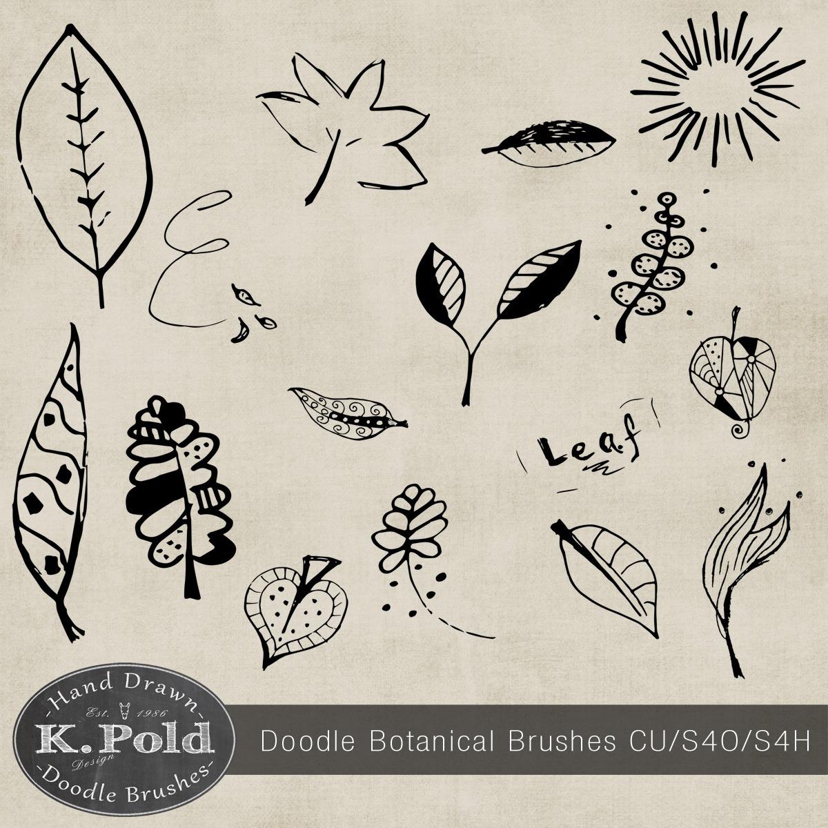 Botanical Doodle Photoshop Brushes Photoshop brush