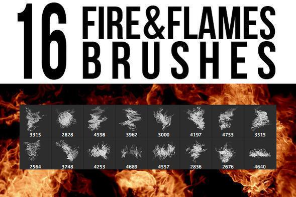 Fire & Flames Brushes Photoshop brush