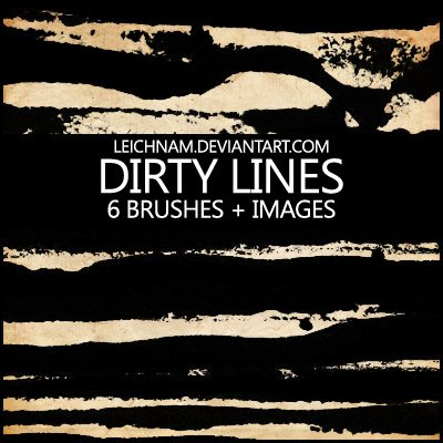 Dirty Lines Brushes Photoshop brush