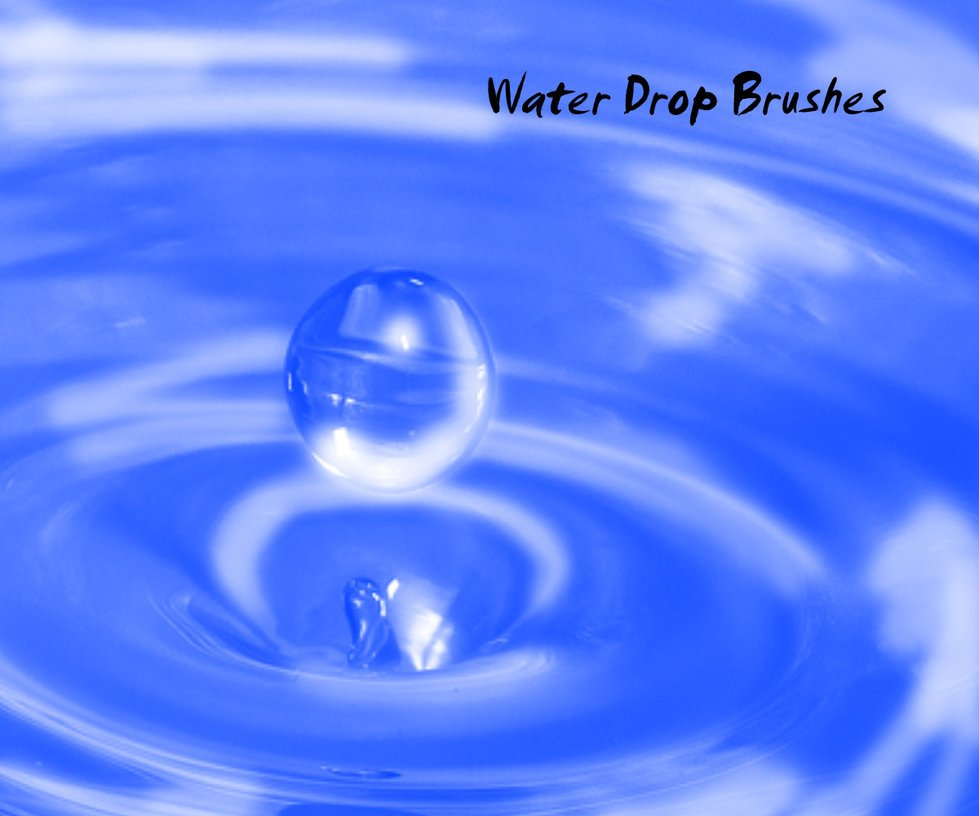 Water Drop Brushes Photoshop brush