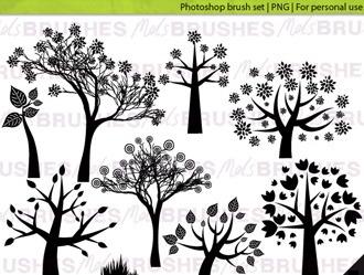 Woodland Photoshop Brushes Photoshop brush