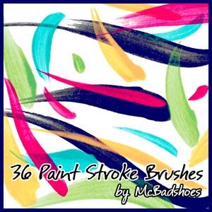 Paint Stroke Brushes Photoshop brush