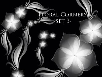 5 Floral Corner Brushes Photoshop brush