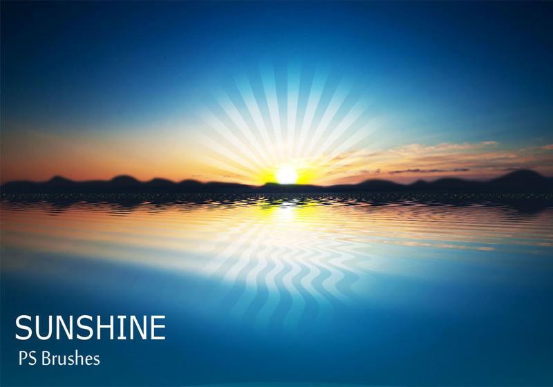 20 Sunshine PS Brushes abr Vol.8 Photoshop brush
