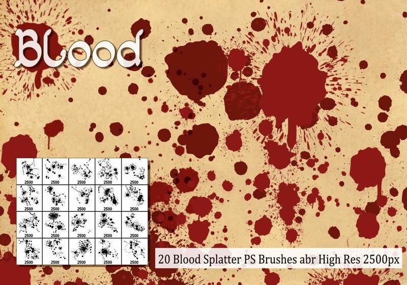 Blood Splatter PS Brushes abr Photoshop brush