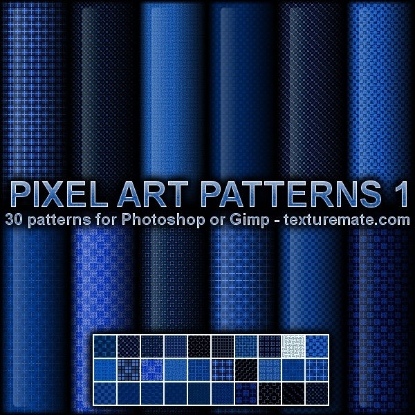Pixel Art Patterns 1 Photoshop brush