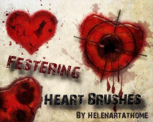 Festering Heart Brushes Photoshop brush