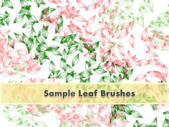 Leafy Brushes Set Sample Photoshop brush