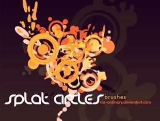 Splat Circles Photoshop brush