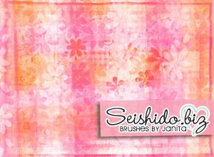 FREE Seishido.biz Floral Texture Brushes  Photoshop brush