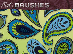 Free Paisley doodle photoshop brushes Photoshop brush