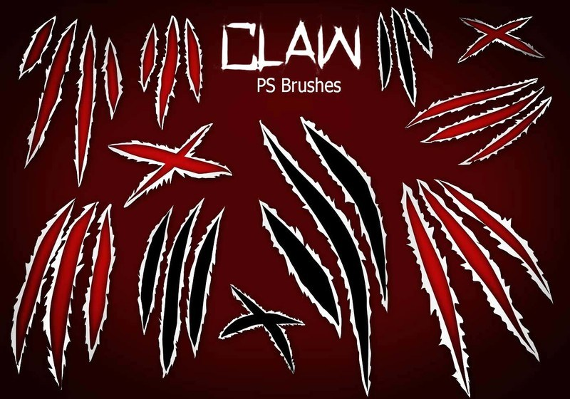 20 Claw Scratch PS Brushes abr. vol.8 Photoshop brush