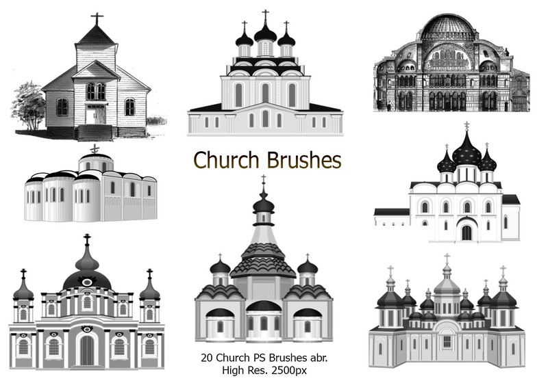 20 Church PS Brushes abr. Photoshop brush