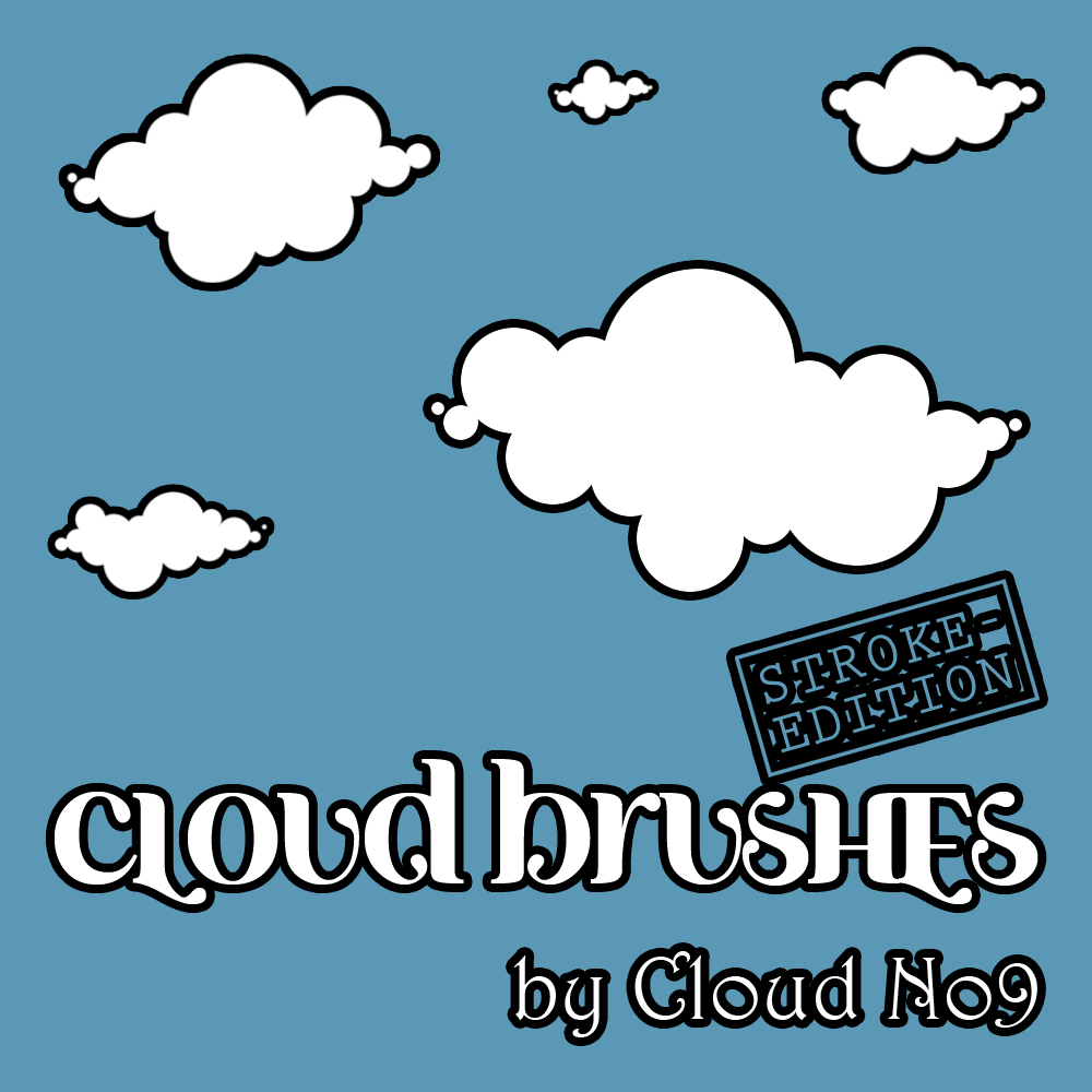 Cloud Brushes ver.1 Photoshop brush
