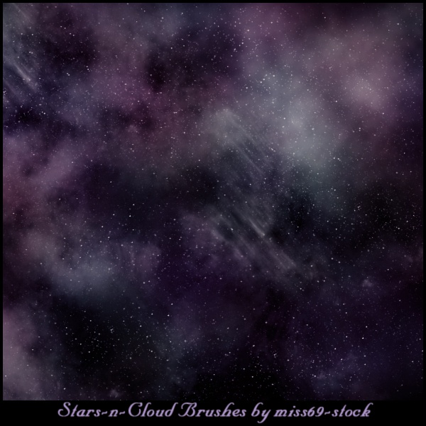 Stars-n-Cloud Brushes Photoshop brush