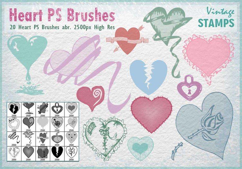 Heart PS Brushes  Photoshop brush