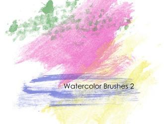 40 Watercolor Brushes Photoshop brush