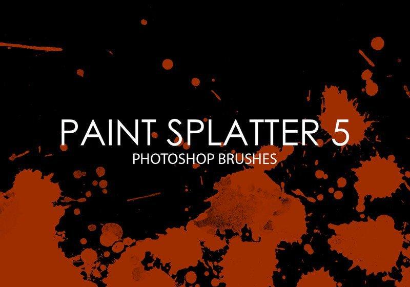 Free Paint Splatter Photoshop Brushes 5 Photoshop brush