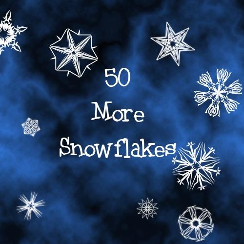 50 More Snowflakes Photoshop brush
