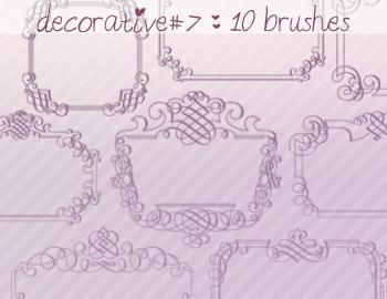 Decorative Brushes 7 Photoshop brush