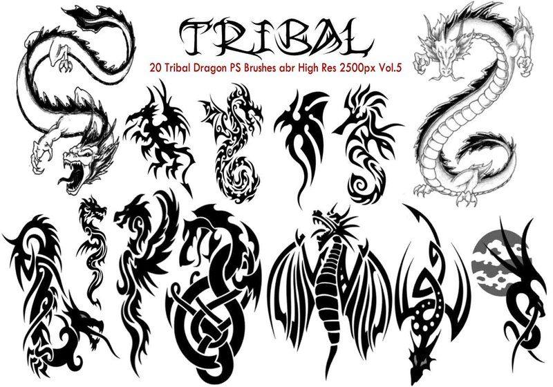 Tribal Dragon PS Brushes Vol.5 Photoshop brush