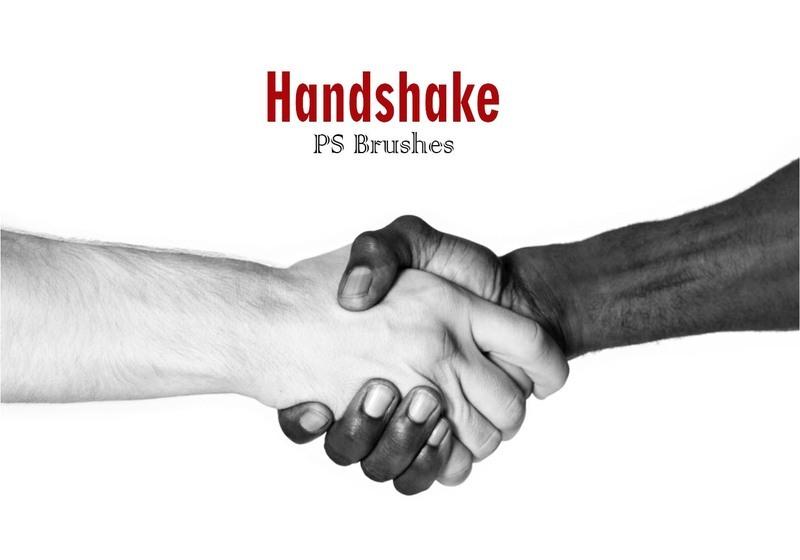 20 Handshake PS Brushes abr Photoshop brush