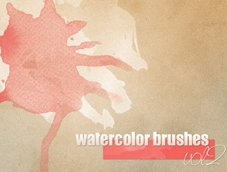 10 High Resolution Watercolor Brushes Photoshop brush