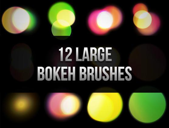 12 Large Bokeh Brushes Photoshop brush