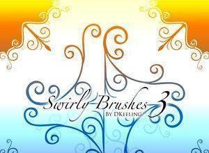 Swirly Brushes 3 Photoshop brush