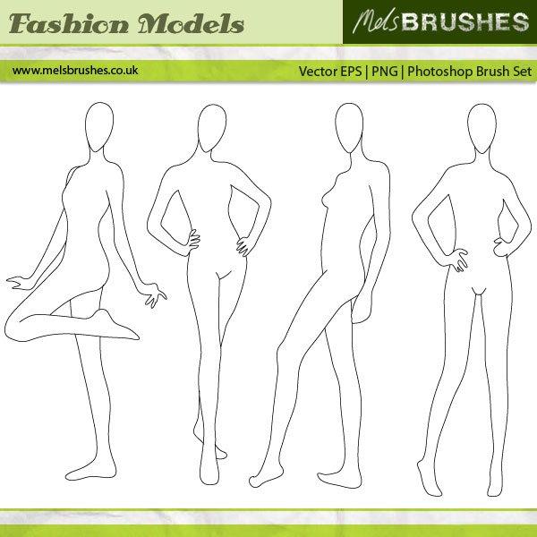 Fashion Illustration Models Photoshop brush