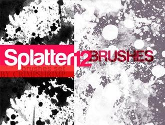 12 Splatter Brushes Photoshop brush