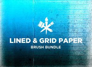 Lines & Grids Paper Photoshop brush