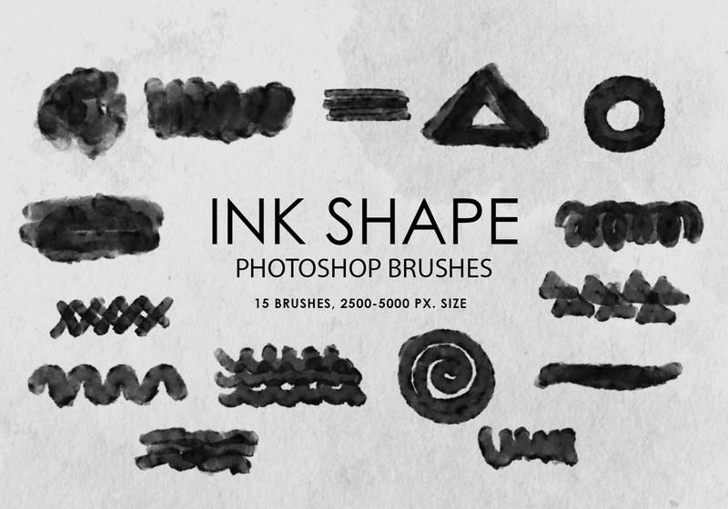 Free Ink Shape Photoshop Brushes Photoshop brush