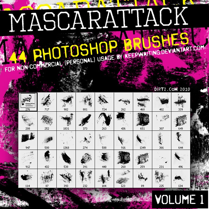 Mascarattack Photoshop brush