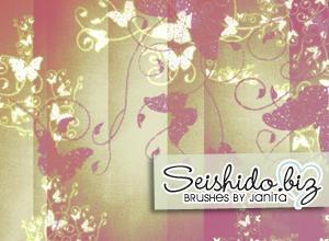 FREE Seishido.biz Butterfly Brushes  Photoshop brush