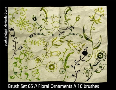 Floral Ornaments Photoshop brush