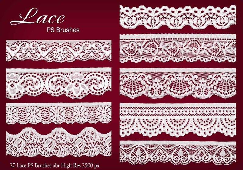 20 Lace PS Brushes abr Photoshop brush