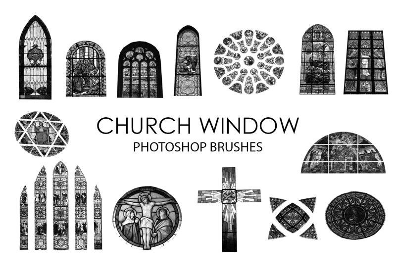 Free Church Window Photoshop Brushes Photoshop brush