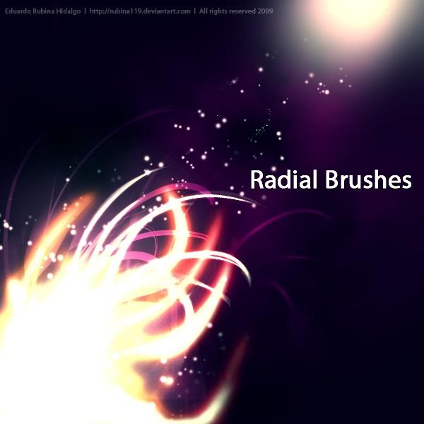 Radial Brushes Photoshop brush