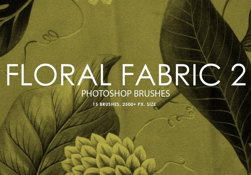 Free Floral Fabric Photoshop Brushes 2 Photoshop brush