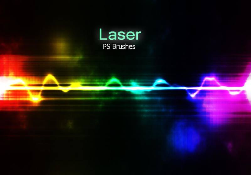 20 Laser PS Brushes abr. vol.2 Photoshop brush