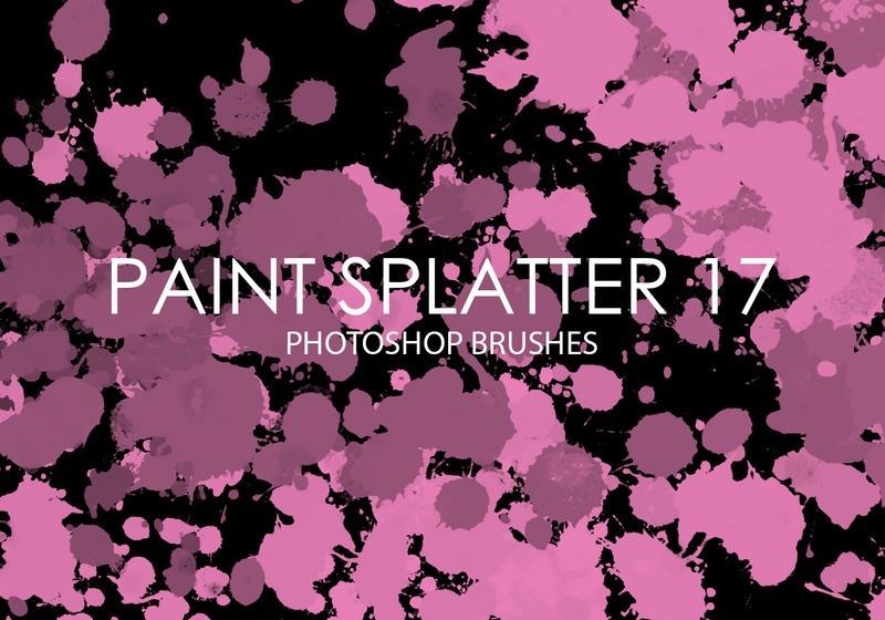 Free Paint Splatter Photoshop Brushes 17 Photoshop brush