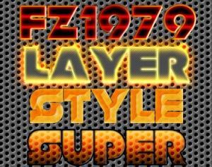 Super pack layer style 8 Photoshop brush