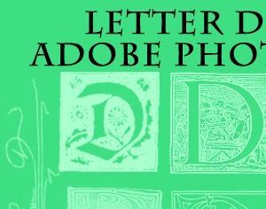 Letter D Brushes Part 1 Photoshop brush