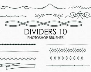 Free Hand Drawn Dividers Photoshop Brushes 10 Photoshop brush