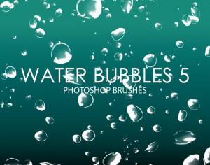 Free Water Bubbles Photoshop Brushes 5 Photoshop brush